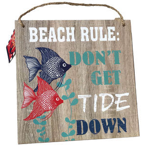 ♛5/$25♛NWT Hanging Beach Sign Home Decor Fish Tide